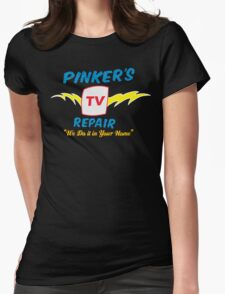 Pinker's TV Repair Womens Fitted T-Shirt