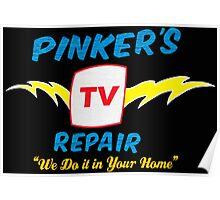 Pinker's TV Repair Poster