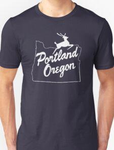 Portland Oregon Sign in White T-Shirt