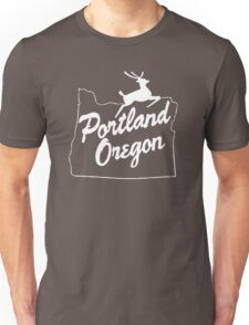 Portland Oregon Sign in White Unisex T-Shirt