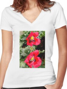 Shootin The Breeze Women's Fitted V-Neck T-Shirt
