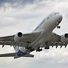 Airbus A380 takes to the air by Colin Hollywood Photography