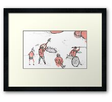 gladiators and some crustaceans  Framed Print