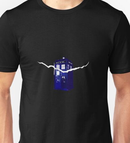 The Tardis and the crack Unisex T-Shirt