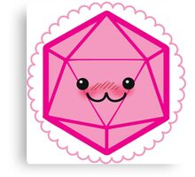 Critically Cute - D20 Kawaii Die Canvas Print