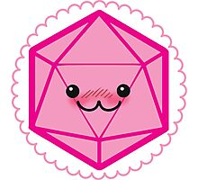Critically Cute - D20 Kawaii Die Photographic Print