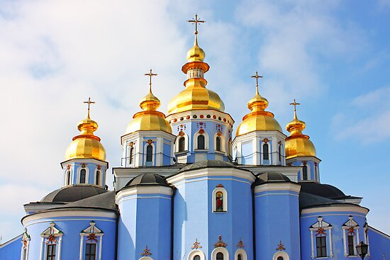 Golden copes of in cathedral in Kiev by a1luha