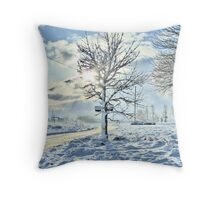 the tree as seen in winter Throw Pillow
