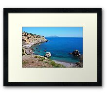 The Black Sea seacost in Ukraine Framed Print
