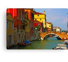 Romantic places of Venice  Canvas Print