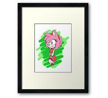 Sonic Boom Amy Rose Framed Print