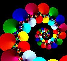 Rainbow sea shells by Sue Hays