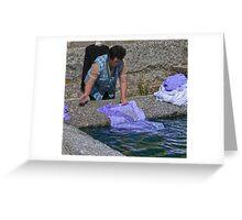 wash day, Linhares, Serra Da Estrela, Portugal Greeting Card