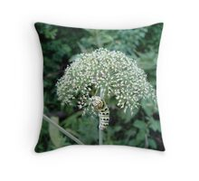 THE FLOWER EATER Throw Pillow