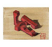 Red Blocks Photographic Print