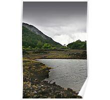 Hidden lake in volcanic landscape Poster