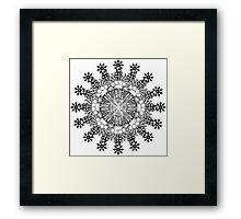 Violent Mandala  Framed Print
