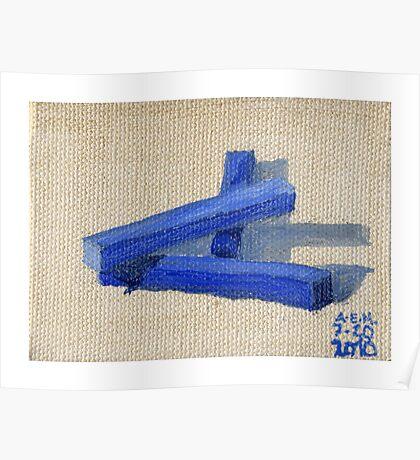Blue Blocks Poster