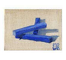 Blue Blocks Photographic Print