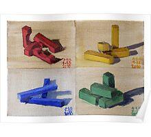 Blocks Series Print Poster