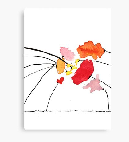 Defaming poppies - Achter Klap Roos Canvas Print