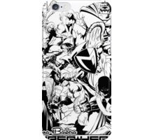 HANNA-BARBERA SUPER HEROES BLACK AND WHITE iPhone Case/Skin