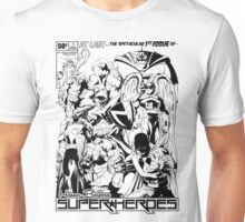 HANNA-BARBERA SUPER HEROES BLACK AND WHITE Unisex T-Shirt