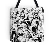 HANNA-BARBERA SUPER HEROES BLACK AND WHITE Tote Bag
