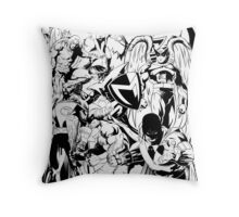 HANNA-BARBERA SUPER HEROES BLACK AND WHITE Throw Pillow