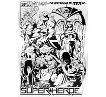 HANNA-BARBERA SUPER HEROES BLACK AND WHITE Poster