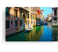 Romantic places in Venice Canvas Print