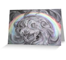Pegasus under the rainbow Greeting Card