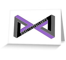 Didactic Infinity (Purple) Greeting Card