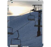 Evening snowfall on the mountainside iPad Case/Skin
