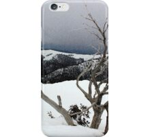 A snowstorm on a mountainside in Australia iPhone Case/Skin