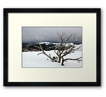 A snowstorm on a mountainside in Australia Framed Print