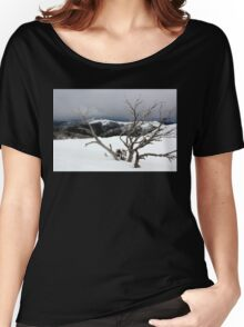 A snowstorm on a mountainside in Australia Women's Relaxed Fit T-Shirt