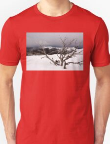 A snowstorm on a mountainside in Australia Unisex T-Shirt