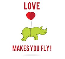 Love Makes You Fly ! Photographic Print