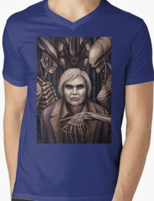 Giger Portrait Mens V-Neck T-Shirt