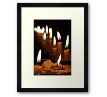 I Lit a Candle For You Framed Print