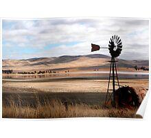Australian Rural Landscape Poster