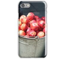 Bucket of nectarines iPhone Case/Skin