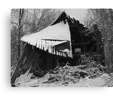 Abandoned Barn in Snow - Bea Kennedy Photography Canvas Print
