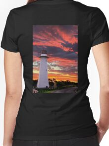 Cleveland Lighthouse Women's Fitted V-Neck T-Shirt