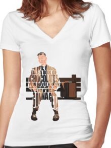 Forrest Gump Women's Fitted V-Neck T-Shirt