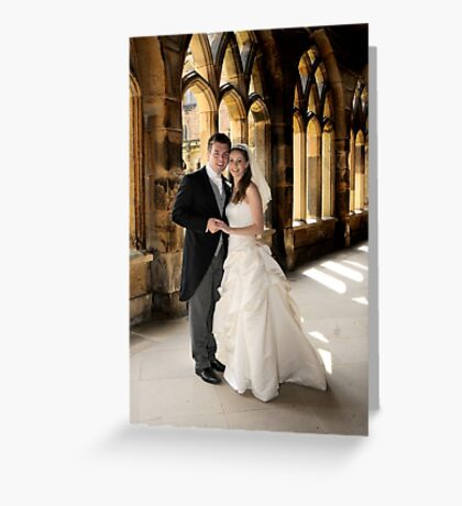 Cloistered couple Greeting Card