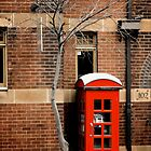 Red Telephone Box, The Rocks, Sydney by Rosebuds