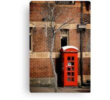 Red Telephone Box, The Rocks, Sydney Canvas Print