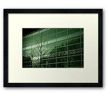 Arbre et facade Framed Print